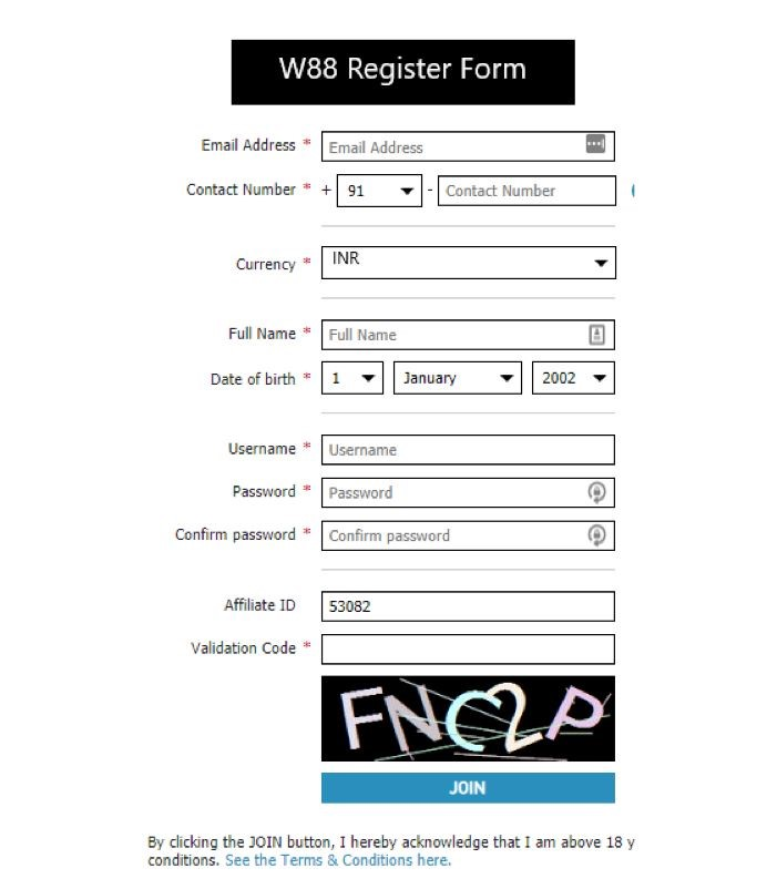 Take These Super Easy 3 Steps to Register W88