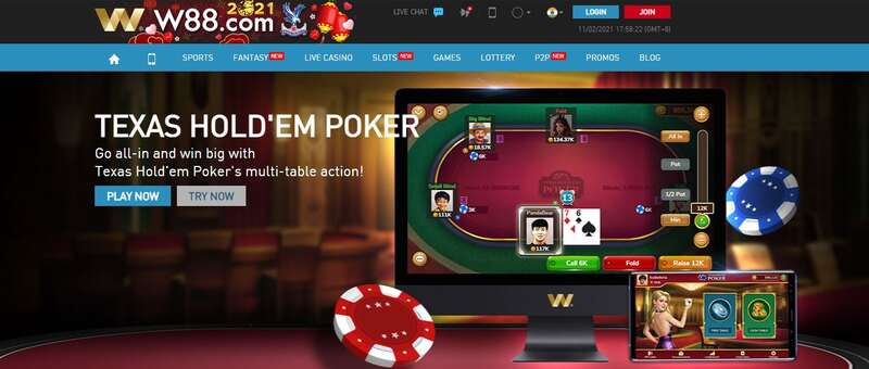 Poker W88 Your Best Choice