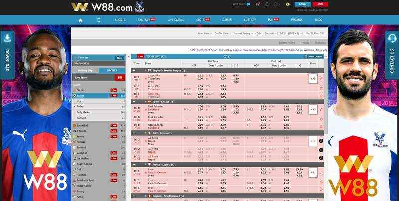 Find the Games You'll Love with Dashboard W88 - Sportsbook Dashboard
