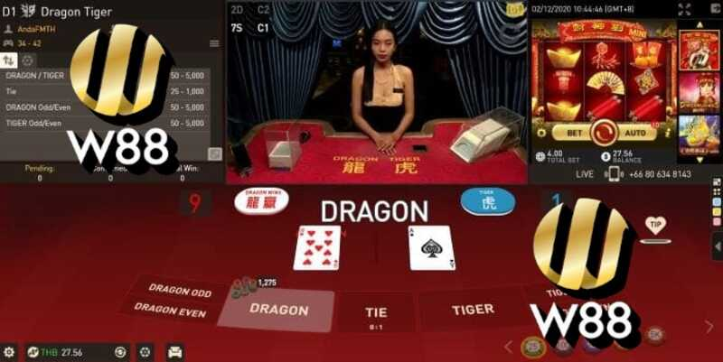 Enjoy Beastly Winnings With Dragon Tiger Game in W88 India