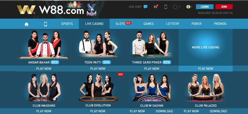 Five W88 Club Casinos to Choose From