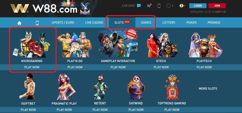 Unlimited Fun with W88 Microgaming Slot Games